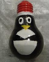 bombka pingwin diy