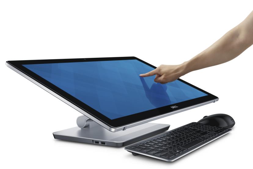 Расположение дисплея Dell Inspiron 23 параллельно столу