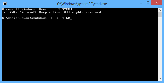 Shutdown Komputer Windows Lewat CMD