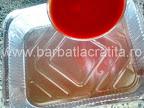 Rulouri de vinete cu branza la cuptor preparare reteta - turnam sosul de rosii in tava