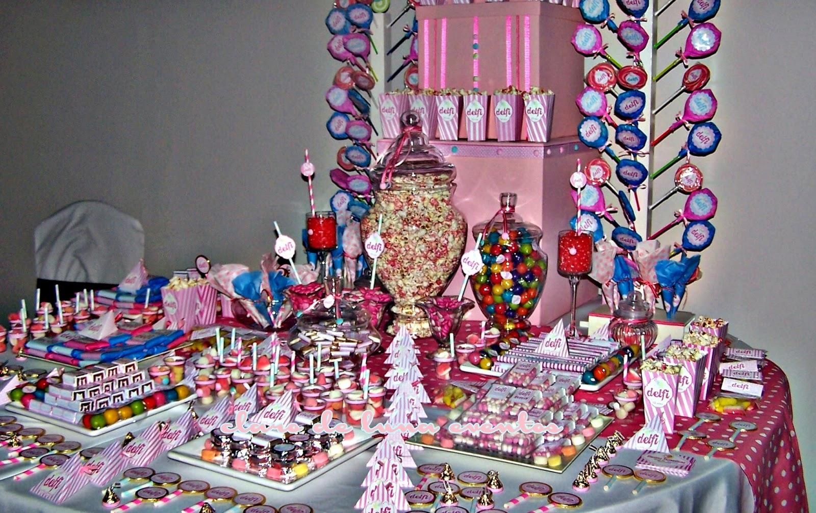 Candy bar o mesa dulces los xv a os de mis sue os for Mesa de dulces para xv anos
