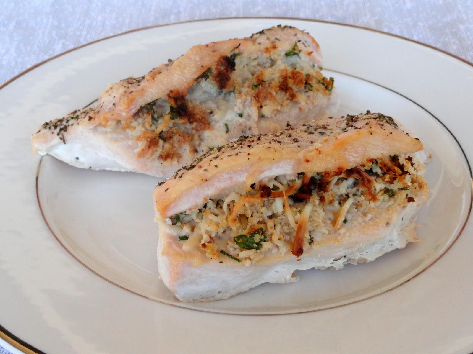 As Good As Gluten: Parmesan Stuffed Chicken