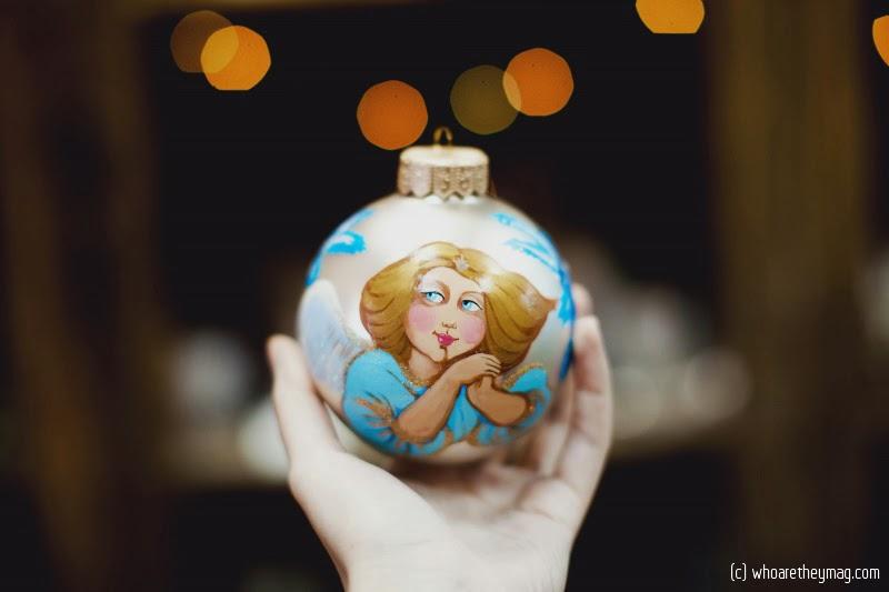Новогодний шар ручной росписи