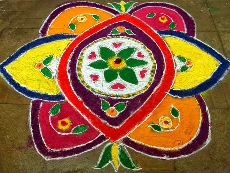 Beautiful Simple Rangoli Designs For Diwali | Deepak ...