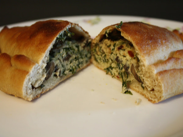 Roasted Mushroom and Kale Calzones