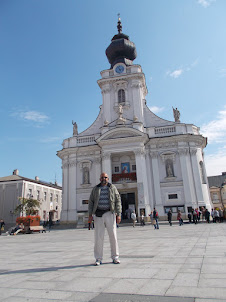 """At  """"Basilica of the Presentation of the Blessed Virgin Mary"""" in Wadowice."""