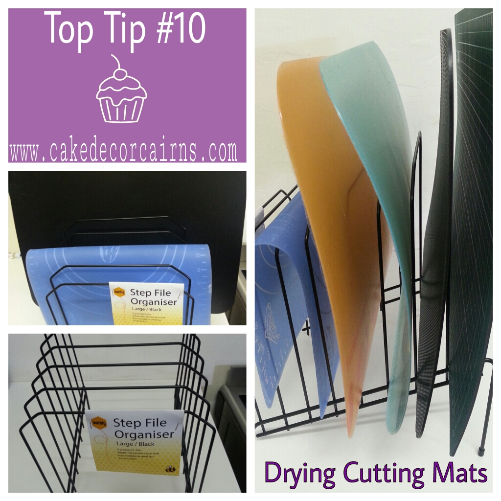 Cutting Mat and Wired Flower Dryer DIY Top Tip Friday Cake Decor Cairns