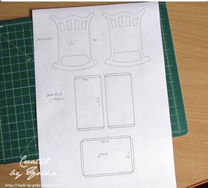 Кроватка из бумаги своими руками 13