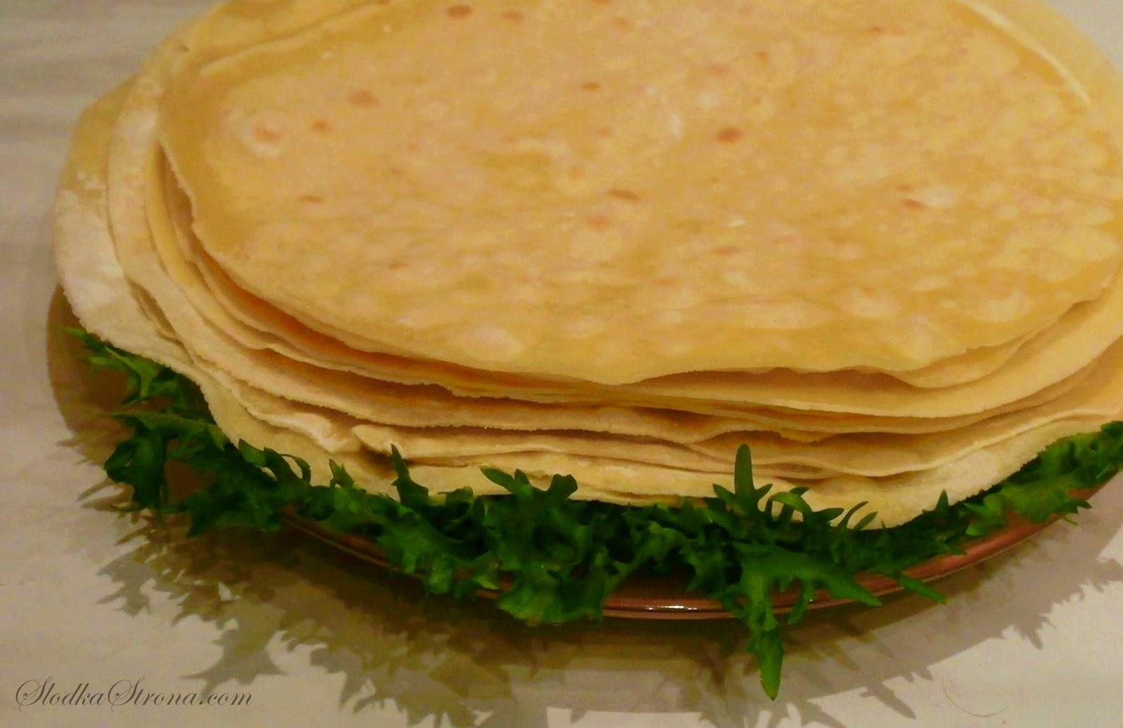 Tortilla - Placki - Przepis - Słodka Strona