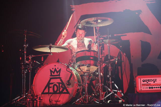 Fall Out Boy Paris Olympia Rock'n'Live Marie Le Bannier Live report Concert Andy Hurley Patrick Stump Pete Wentz Joe Trohman Save Rock and Roll My Songs Know What You Did In The Dark Thnks Fr Th Mmrs This Ain't a Scene, It's an Arms Race © Rock'n'Live