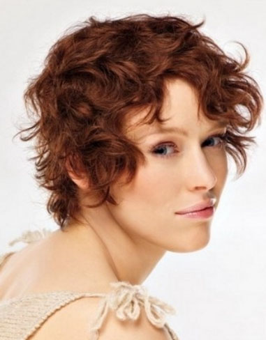 Short Curly Hair Style 2014