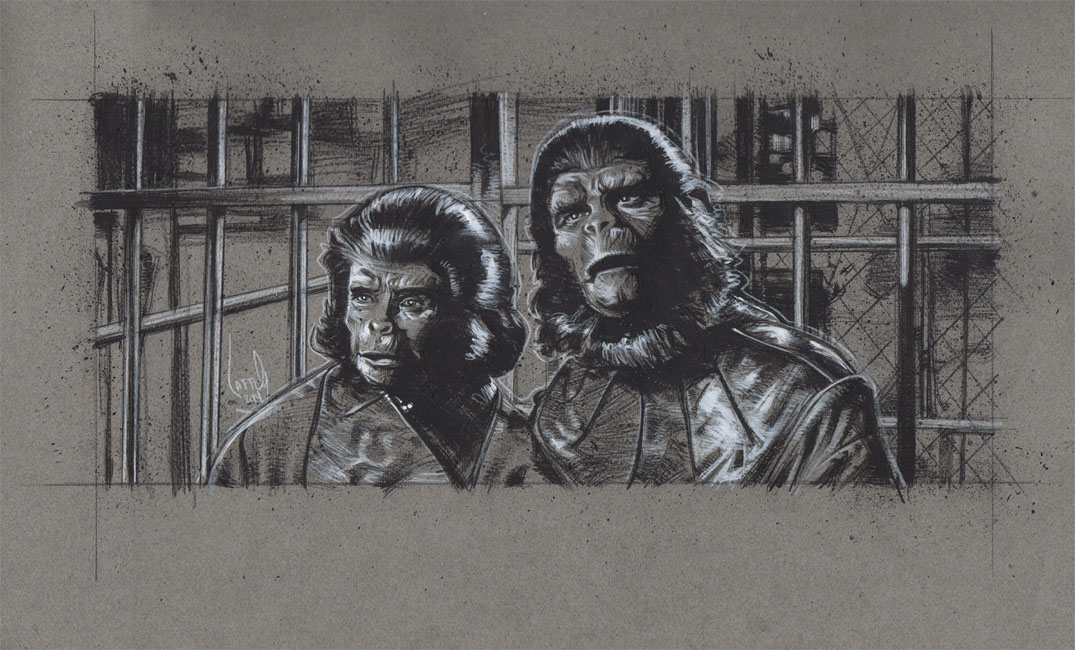 Planet Of The Apes, Artwork is Copyright © 2014 Jeff Lafferty