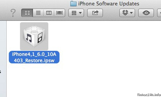 Firmware for iOS 6.0.1