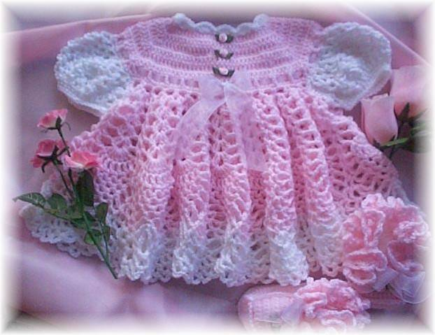 Baby hat and booties knitting patterns baby dress lilac color