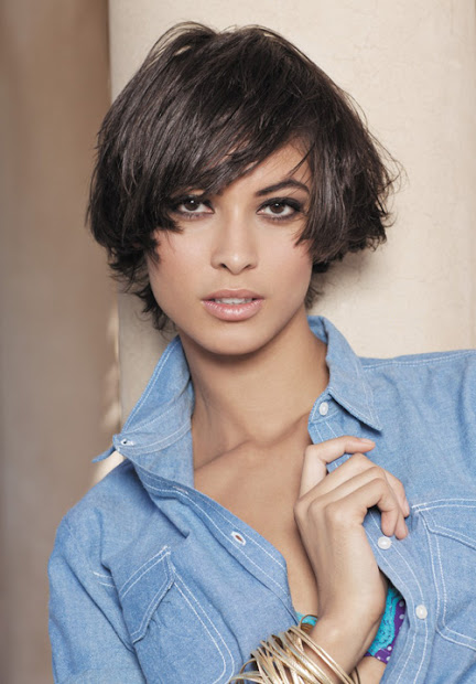short hairstyle thick haircut