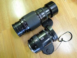 (2) lens / MINOLTA MAXXUM 28-85mm 3.5-4.5 AF + SIGMA 75-300mm AF/ beercan era