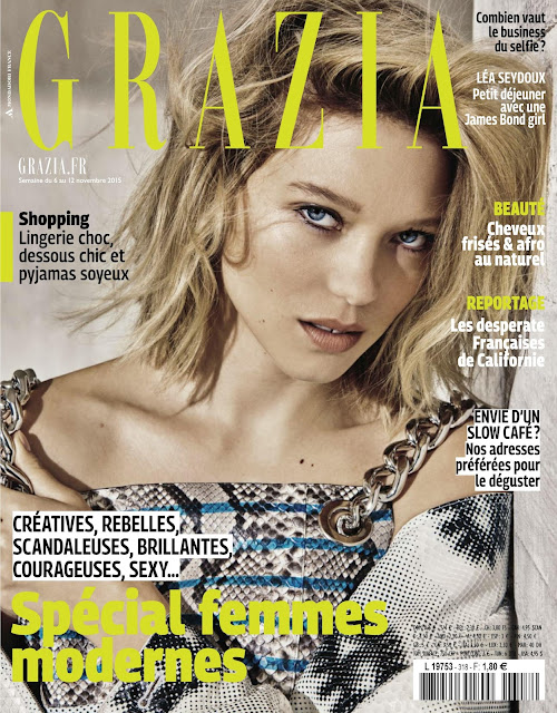 Actress, Model @ Léa Seydoux - Grazia France, November 2015