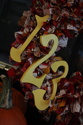 """123"" Fall Ribbon Wreath - www.thelifeofawannabesupermom.blogspot.com"