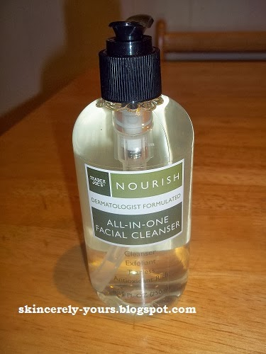 skincerely yours trader joe 39 s nourish facial cleanser and serum. Black Bedroom Furniture Sets. Home Design Ideas