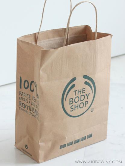 the Body Shop paper bag