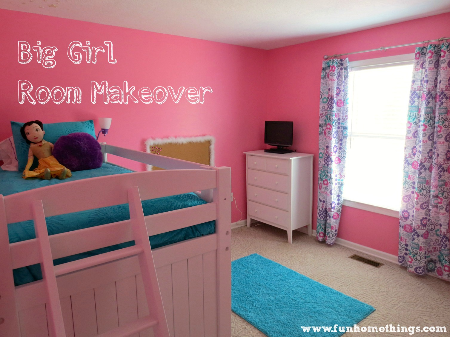 Room Makeovers Adorable Of Big Girl Room Makeover Photos