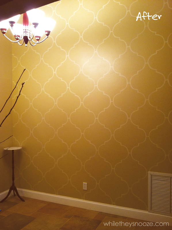 Diy Wall Stencil Template : While they snooze diy moroccan style wall stencil tutorial