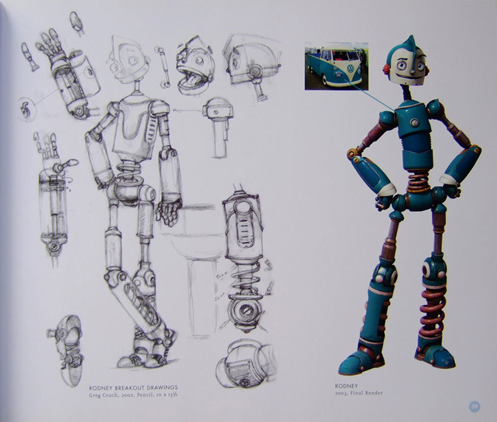 Character Design Documentary : Living lines library robots character development