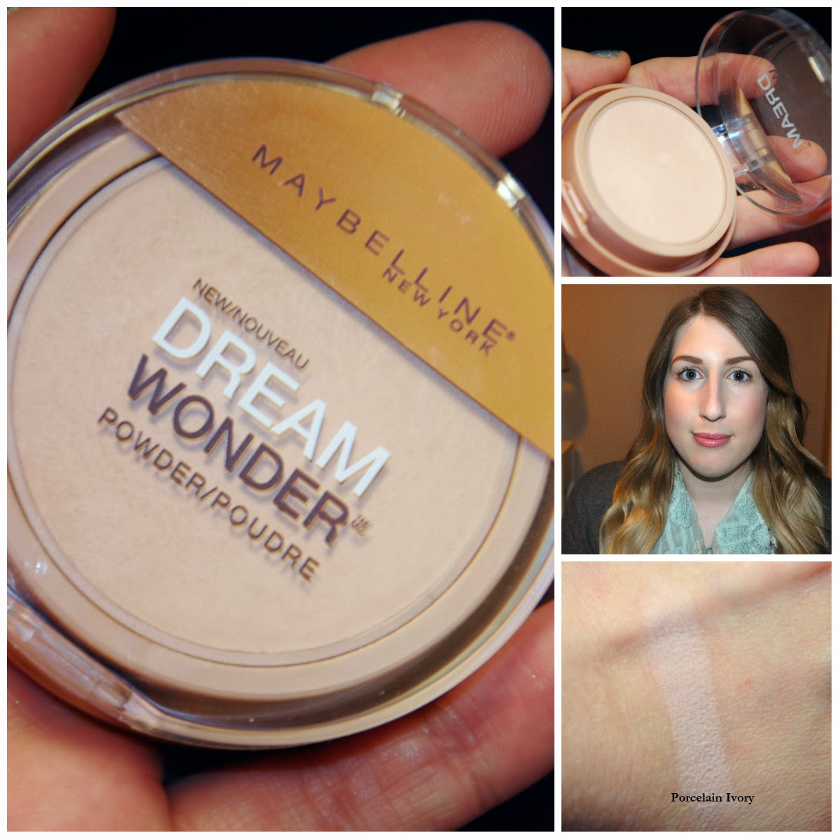 Maybelline Dream Wonder Powder, No. 10 Porcelain Ivory, Review and Swatch