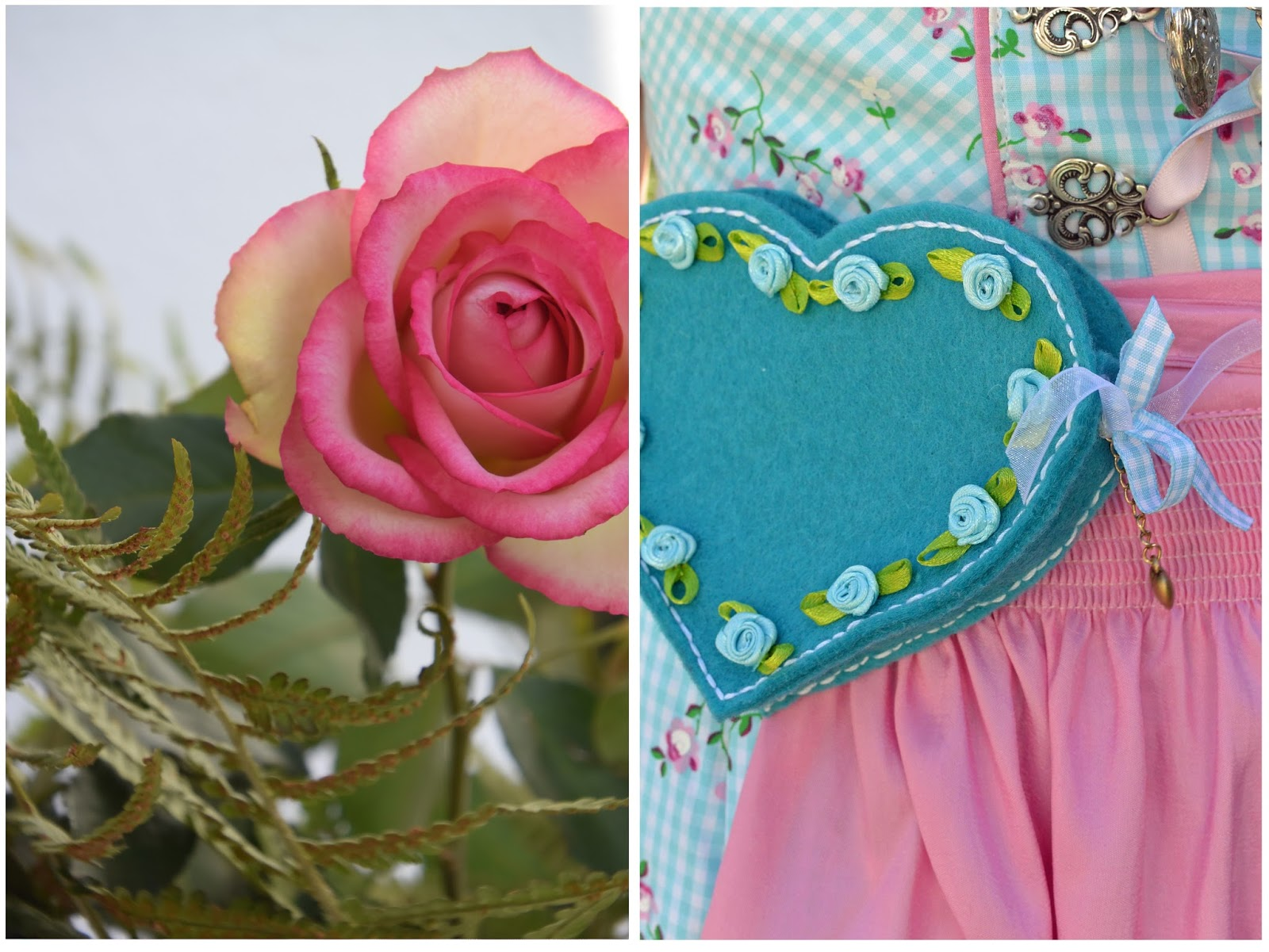 kristallzauber diy dirndltasche in herzform mit kleinen rosen f rs oktoberfest. Black Bedroom Furniture Sets. Home Design Ideas