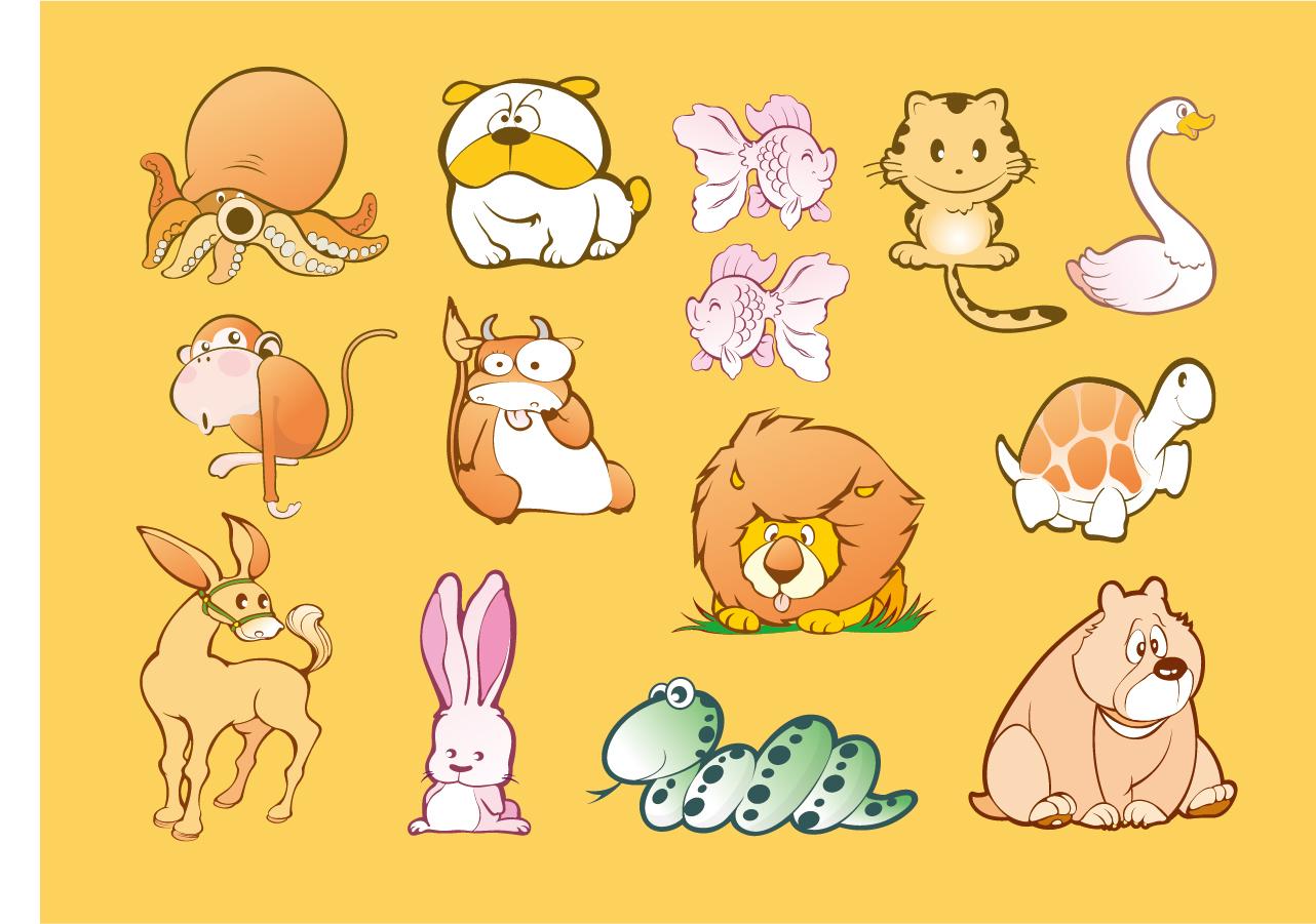 free vector がらくた素材庫: 可愛い動物のクリップアート animal