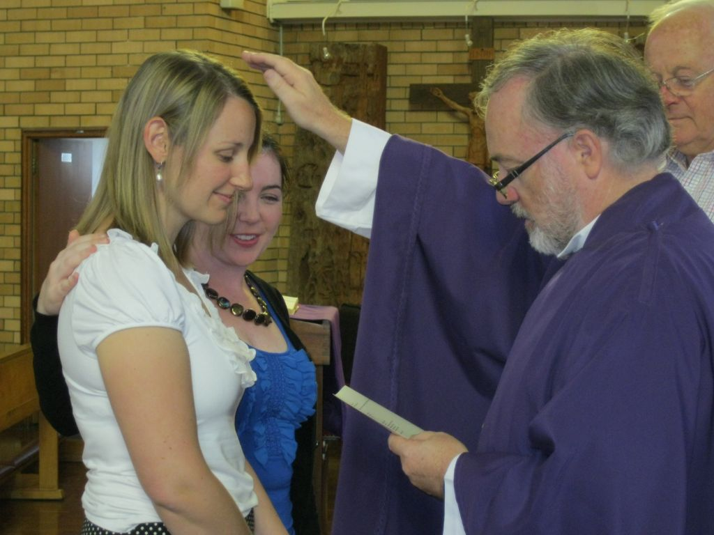 This is in the thick of it, being confirmed, with my Sponsor (AKA Bridesmaid ...