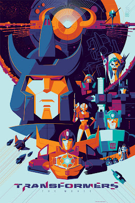 Transformers: The Movie Metallic Variant Screen Print by Tom Whalen