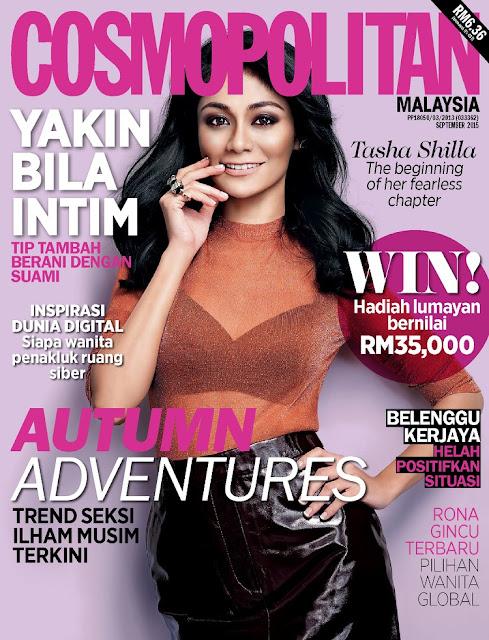 Actress @ Tasha Shilla- Cosmopolitan Malaysia, September 2015