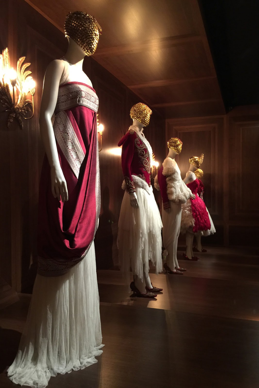 """Romantic Nationalism"" installation featuring the Widows of Culloden Fall/Winter 2006 dresses / via fashioned by love british fashion blog / Alexander Mcqueen Savage Beauty fashion exhibition Victoria&Albert Museum London"