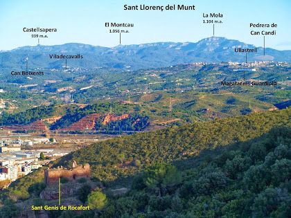 Panoràmica vers el nord-est des de la banda nord de la Serra de l'Ataix