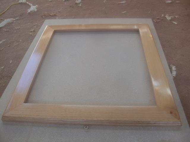 Decoraciones manualidades en madera como hacer marco para cuadro - Marcos para cuadros grandes ...