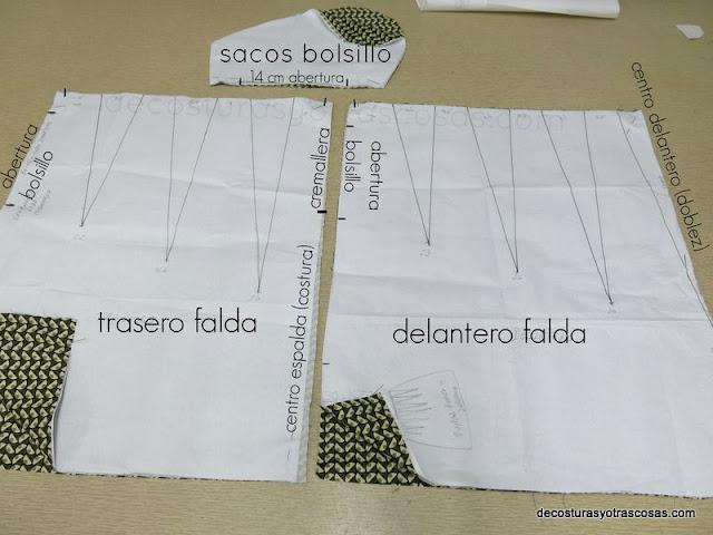 como hacer patrón falda fácil