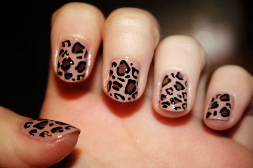The Awesome Cheetah nail art designs Digital Imagery