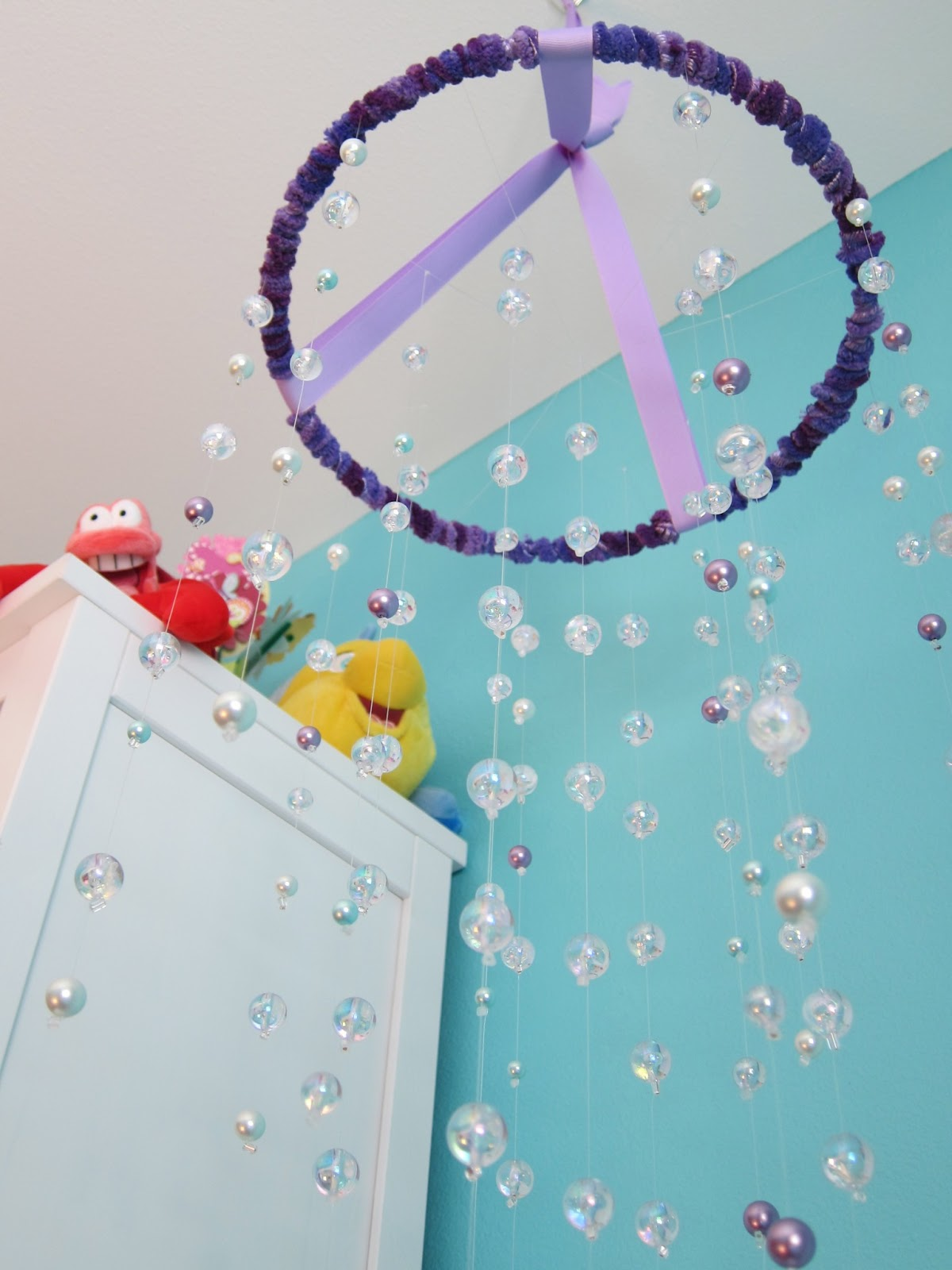 little mermaid bedroom set   all sorts of random  little mermaid room  bubble mobile tutorial. Little Mermaid Bedroom idea   A1houston com