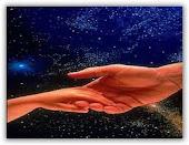 As mãos abençoada por jesus