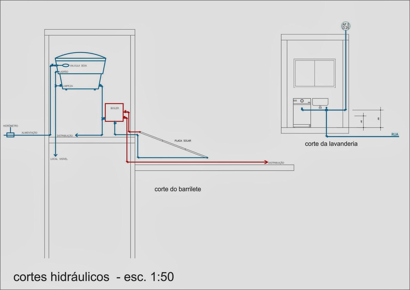 Pellegrino : Projeto de instalações hidráulicas para residência #044978 1600 1133