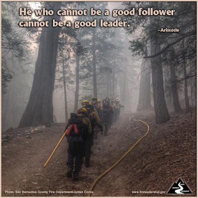 He who cannot be a good follower cannot be a good leader. –Aristotle