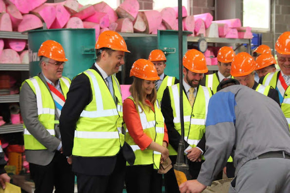 Luxembourg's Hereditary Grand Ducal couple paid a visit to a concrete manufacturer