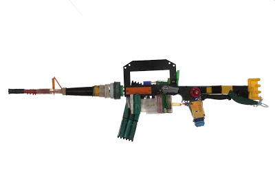 Assault Rifle, Recycled art,  ©Rossa Cole