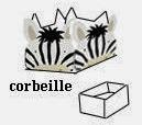 Zebra Free Printable Open Boxes.