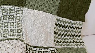 Одеяло связанное крючком и спицами