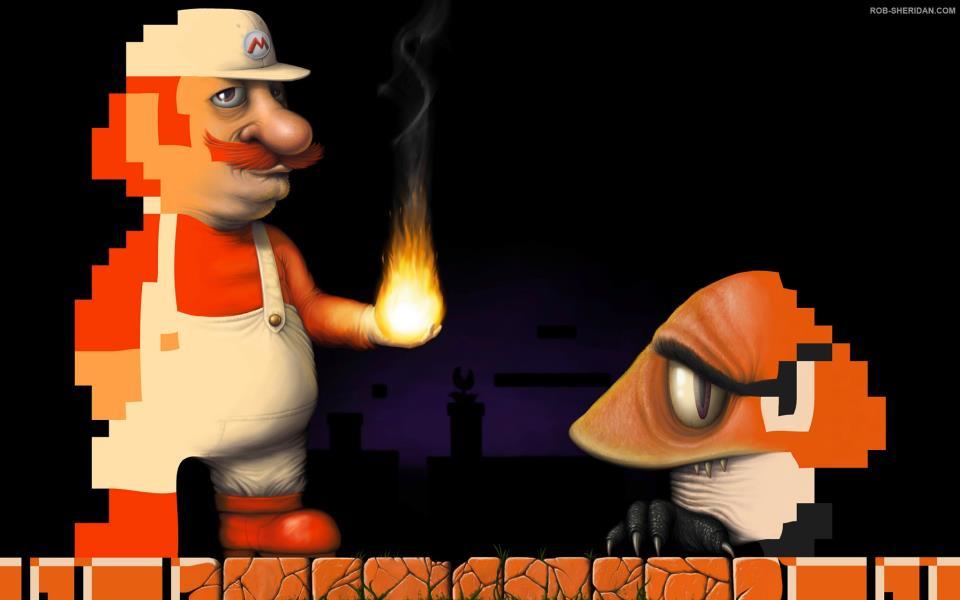 Mario World - Goomba - classico - realistico - arte