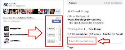 Invite Friends to like your Fanpage and Encourage them to Join your Facebook Group