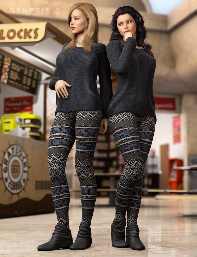 Journée au centre commercial pour Genesis 2 Femme