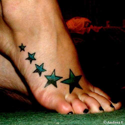 Star foot tattoos cool tattoo designs for Star tattoos on foot